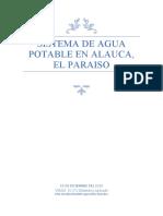 Sistema de Agua Potable en Alauca