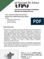 Exposicion Del Yogurt Probiotico-satisfaccion