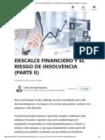 (99+) DESCALCE FINANCIERO Y EL RIESGO DE INSOLVENCIA (PARTE II) _ LinkedIn