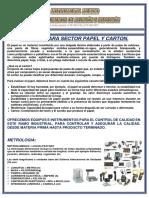 Equipos Para Sector Papel Carton y Embalajes