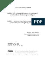 Hobbes y La Tolerancia Religiosa