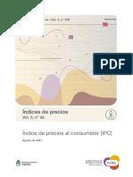 Índice de precios al consumidor (IPC) - Agosto 2021