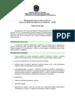 Prioridades para as aplicacoes do FDNE