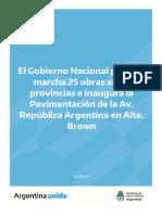 Informe MOP_Inicio de obras e inauguración en Alte Brown_14092021