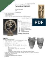 Art History General Characteristics and Timeline - Liz Ketner