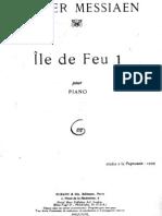 Messiaen - Ile de Feu 1 (Piano)
