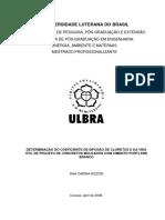 DETERMINAÇÃO DO COEFICIENTE DE DIFUSÃO DE CLORETOS E DA VIDA ÚTIL DE PROJETO DE CONCRETOS MOLDADOS COM CIMENTO PORTLAND BRANCO