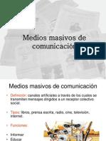 Medios masivos de comunicación 2010