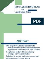 mkt strategic for aussi wines