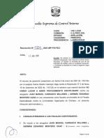 Resolución de la Fiscalía Suprema de Control Interno sobre Juan Carrasco