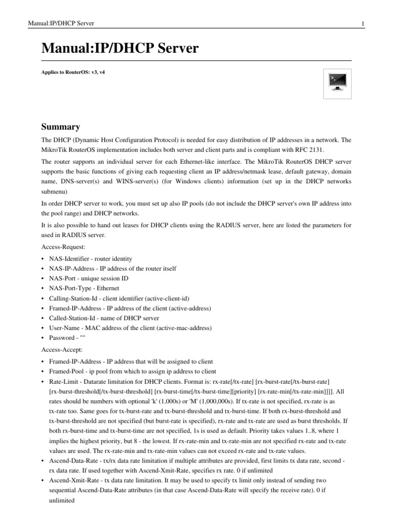 Mikrotik DHCP Server (English) | Ip Address | Computer Network