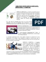 DIFERENCIAS Y SIMILITUDES ENTRE DERECHO MERCANTIL
