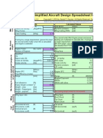 Copy of Raymer Simplified Aircraft Design Spreadsheet (SAM)