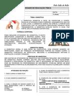 ATIVIDADE - ED FÍSICA - GINÁSTICA - TUDO SALA DE AULA - 1 - 2 ANO