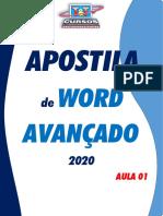 APOSTILA DE WORD AVANÇADO - (AULA 01) PDF