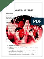 6. ELABORACION DE YOGURT