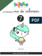 COL0007 Dibujos Kawaii Colorear PDF Edufichas