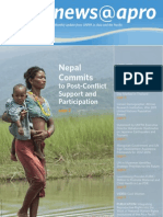 April 2011, Nepal Commits to Post-Conflict Support and Participation