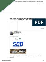 Самостоятельная диагностика LAND ROVER — SDD 131.03 v. 116 — Land Rover Discovery, 2.7 л., 2007 года на DRIVE2