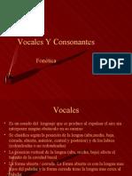 Vocales Y Consonantes