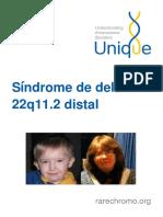 Síndrome de Deleción 22q11.2 distal