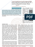 Summary of Research on Financial Governance Theory