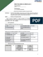Informe Mensual Agosto IV Ciclo.