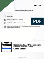 Wuolah Free B1 Unit 4 Progress Test Answer Key