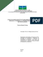 A institucionalização do planejamento regional de Brasília - o Fundefe e o Pergeb sob a lógica da metropolização