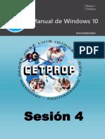 Sesión 04 - Manual de Windows 10