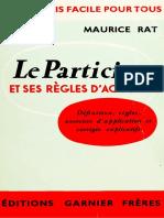 Le participe passé et ses regles d'accord - Rat Maurice