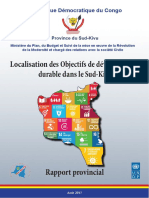 Locating the SDGs in South Kivu Provincial Report