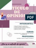 ARTÍCULO DE OPINIÓN - REDACCIÓN