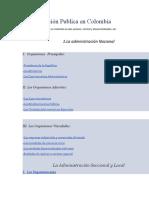 ADMINISTRACION PUBLICA EN COLOMBIA