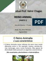Aula de Ciências_Reino Animal (Parte I)_7º Anos VC
