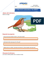 A Fichas Semana 20 Del 10 de Setiembre Plan Lector Chilalo