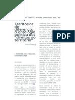 """ESCOBAR Arturo - Territórios de Diferença_ a Ontologia Política Dos """"Direitos Ao Território"""""""