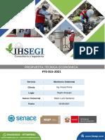Cotización 115-2021 Servicio de Monitoreo Ambiental - Ing. Ponce Krisxia Ponce