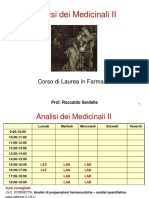 Analisi Dei Medicinali II