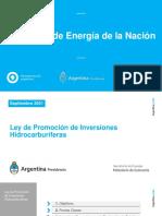 Ley de promoción de inversiones hidrocarburíferas