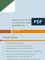 Práticas de leitura e escrita nos campos de experiências v2 - Silvana Augusto (1)