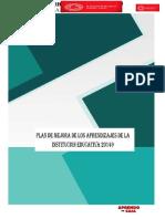 Plan de Mejora de Los Aprendizajes 2021 Ie 20149 Mercy