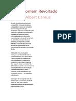 O Homem Revoltado - Albert Camus