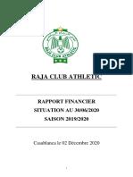 Rapport Financier RCA 2019-2020