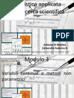 STATISTICA NON PARAMETRICA IN ITALIANO
