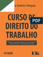 Curso de Direito do Trabalho - Maurício Godinho Delgado, 2019