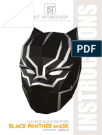 Instructions Black Panther Mask
