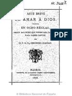 Arte Breve de Amar a Dios-Gracian 1878