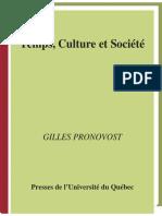 Temps, culture et société essai sur le processus de formation du loisir et des sciences du loisir dans les sociétés occidentales by Gilles Pronovost (z-lib.org) (1)