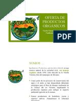Portafolio de Productos Orgánicos Retoño 2020